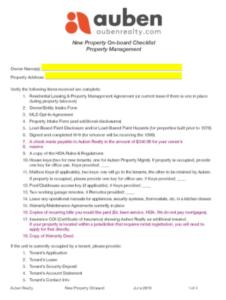 Auben Property Intake Form Link